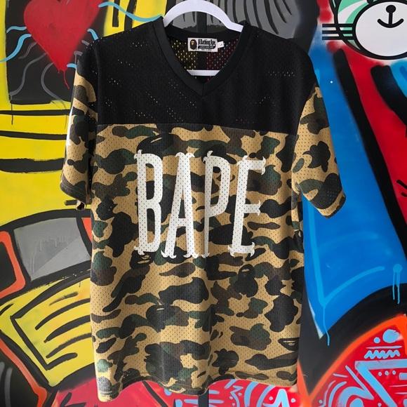 135da069 Bape Shirts | Camo Football Jersey | Poshmark